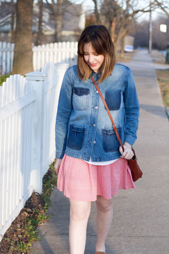 old navy denim shirt jacket-hello luvvy