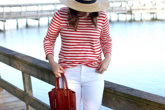 white denim outfit