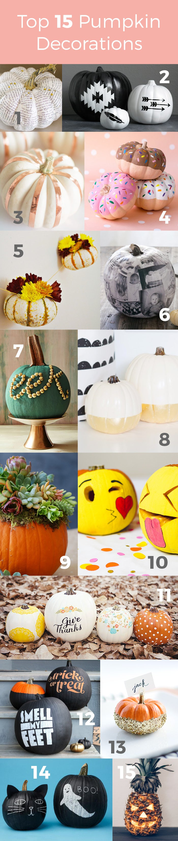 Top 15 Pumpkin Decorations Round-up by Hello Luvvy