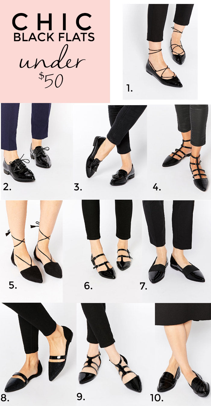 black flats under 50 hello luvvy