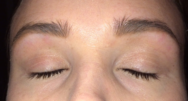 i just used my fingertip to gently blend the pencil marks upwards into my natural lashline.