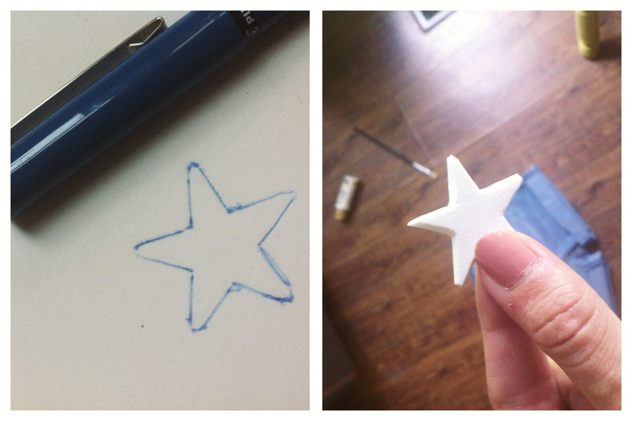 diy star stamp