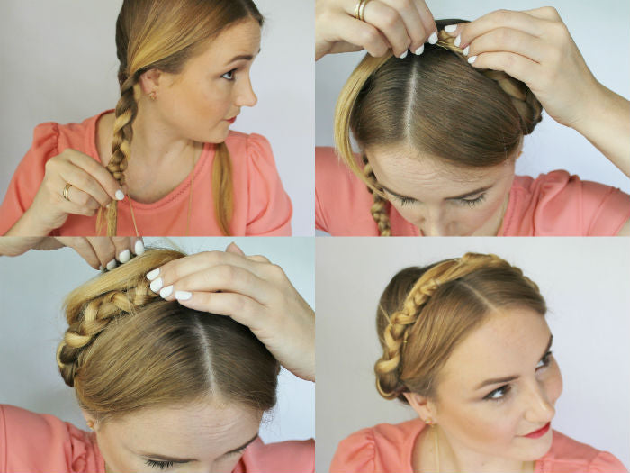 easy braided crown_collage 4