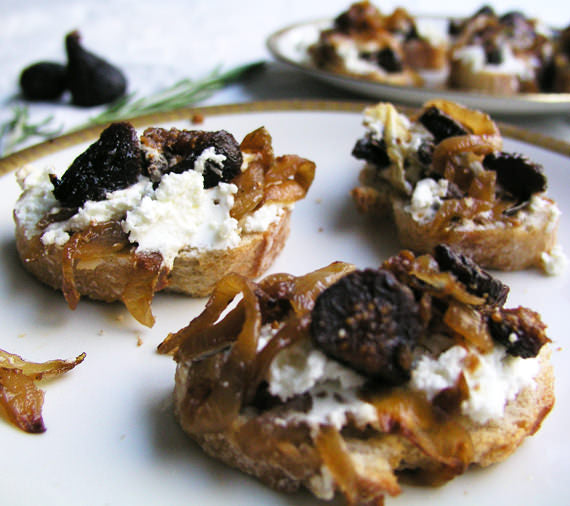 fig, pears, goat cheese, appetizers, fall foods