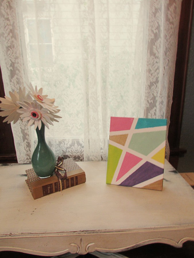 geometric canvas diy