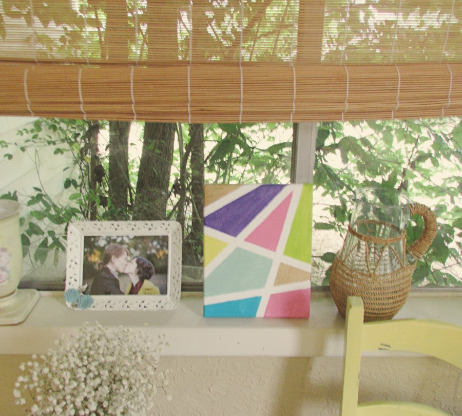 geometric wall art diy