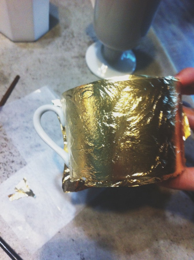 gold foil diy step 5
