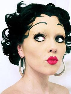 Channel Betty Boop through this awesome old-fashioned pin-up look. Exaggerated brows and false lashes make this an easy and flirty costume topper.