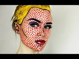halloween makeup_pop art