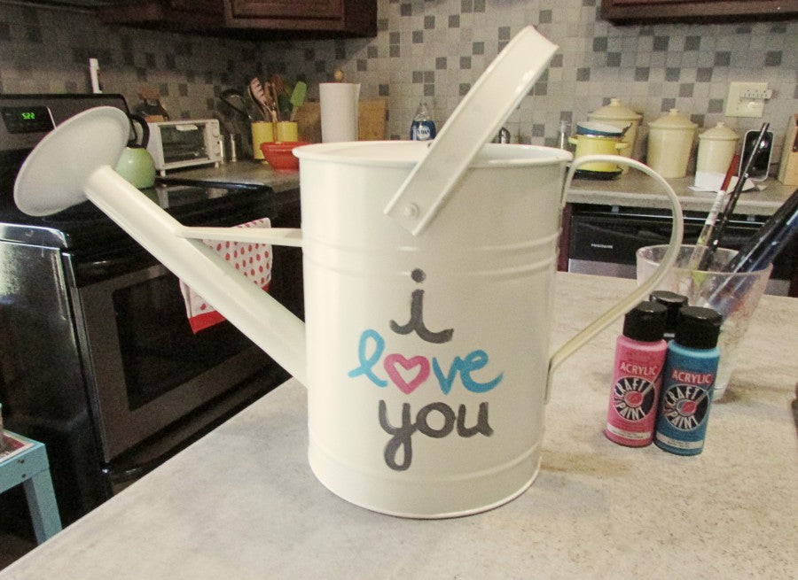 i love you watering can