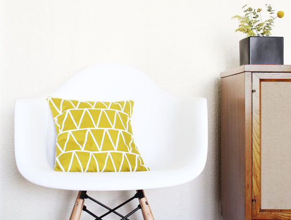 jungle gold triangle pillow