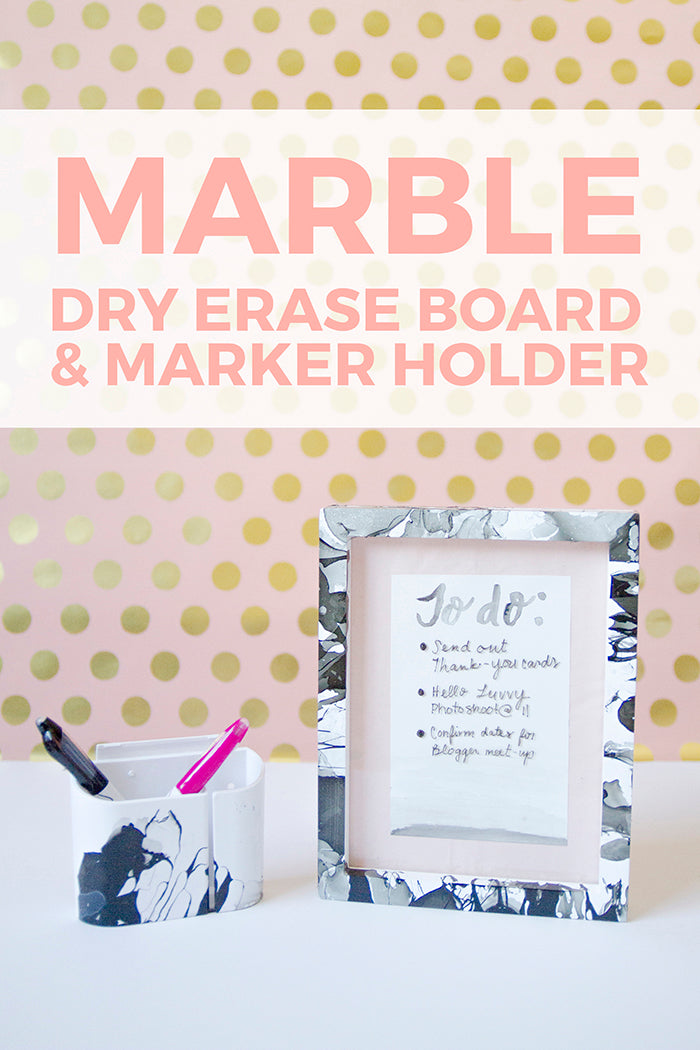 marble marker holder - hello luvvy