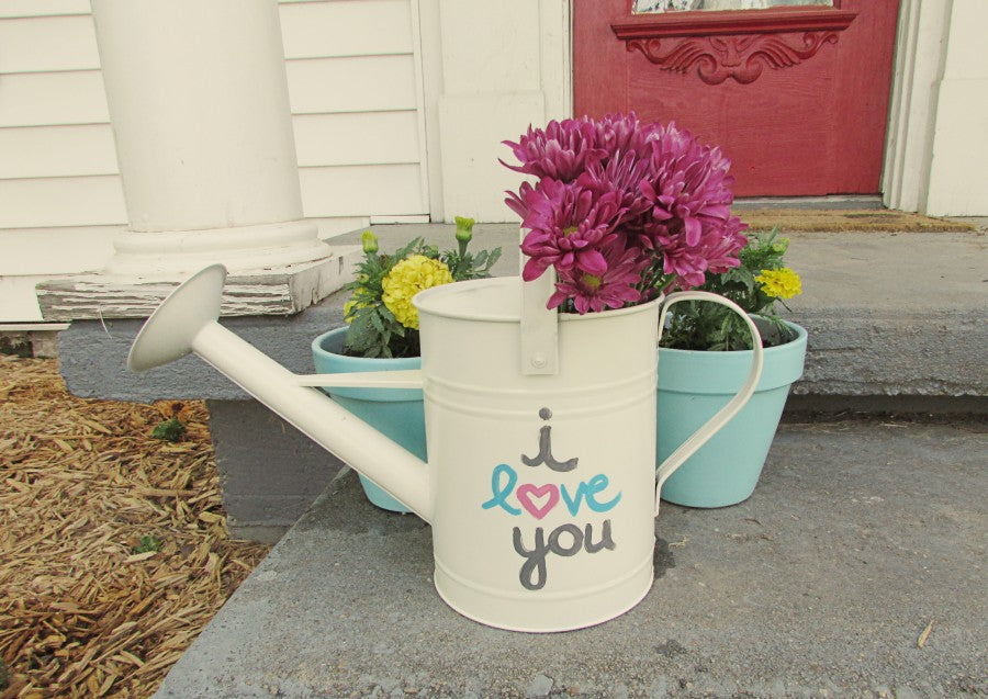 mother's day watering can planter