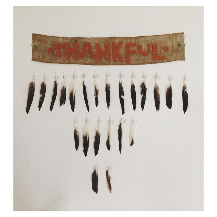 Thanksgiving feather wall