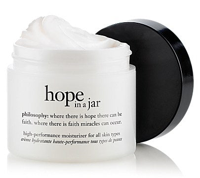 My face lotion recommendation is always philosophy's 'hope in a jar.' it's just thick enough to protect against cold winter winds, without being greasy AT ALL. Get it here.