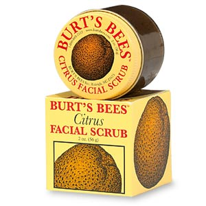 Try this natural citrus scrub from Burt's Bees. Its gentle includes sweet almond oil, which moisturizes and softens skin. Get it here.