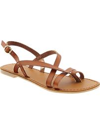 Women's Cross-Strap Sandals - Brown