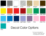 Pennavir Decals Color Palette Options