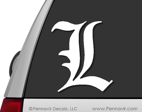 "Death Note ""L"" Decal"