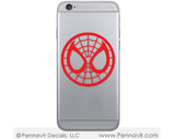 Spiderman Mask Decal