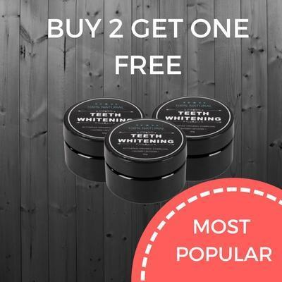 Buy 2 Get One FREE Activated Charcoal Teeth Whitening Powder