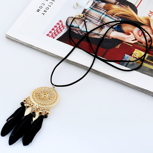 Luxury Dreamcatcher Rope Necklace - Shire Fire