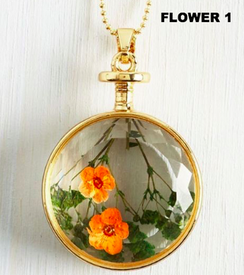 Prized Perennial Flower Necklace