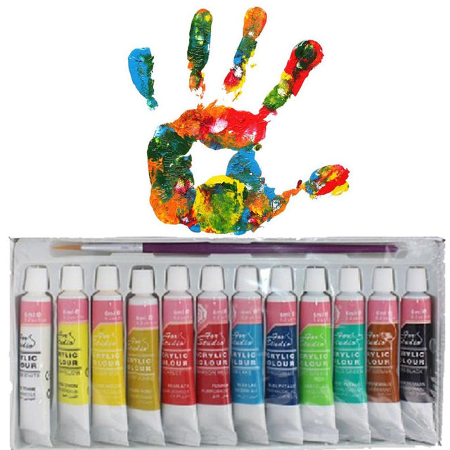 Premium Acrylic Paint Set - 12 Colors - Shire Fire