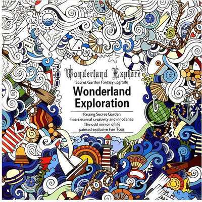 Wonderland Exploration Coloring Book