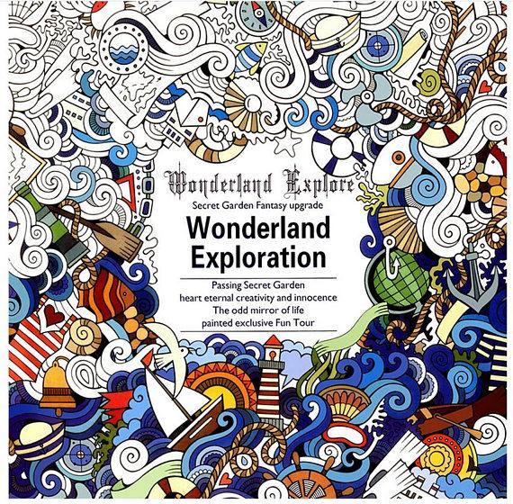 Wonderland Exploration Coloring Book - Shire Fire