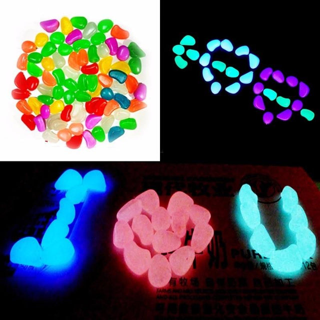 Glow In The Dark Pebble Stones - 20 Pieces - Shire Fire