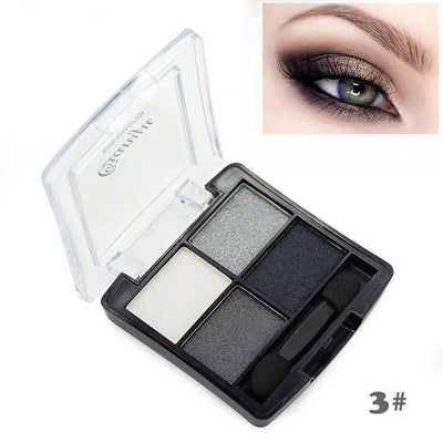4 Color Glitter Eye Shadow - Shire Fire