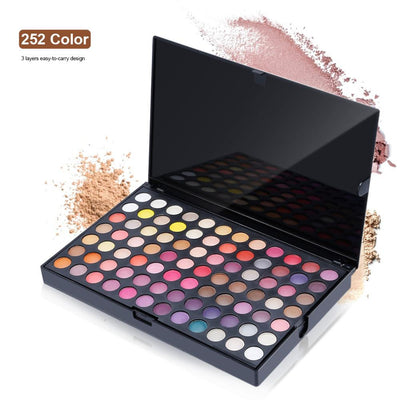 252 Color Professional Eye Shadow Palette - Shire Fire