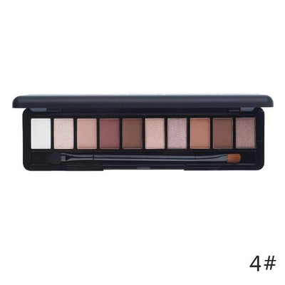 10 Color Matte + Shimmer Eye Shadow - Shire Fire