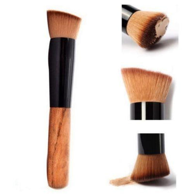 Wooden Handle Makeup Brush - Shire Fire