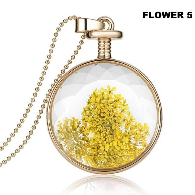 Prized Perennial Flower Necklace - Shire Fire