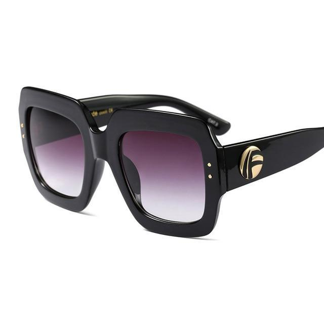 Oversized Square Luxury Sunglasses - Shire Fire