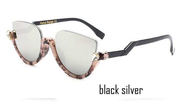 Half Frame Jeweled Sunglasses - Shire Fire