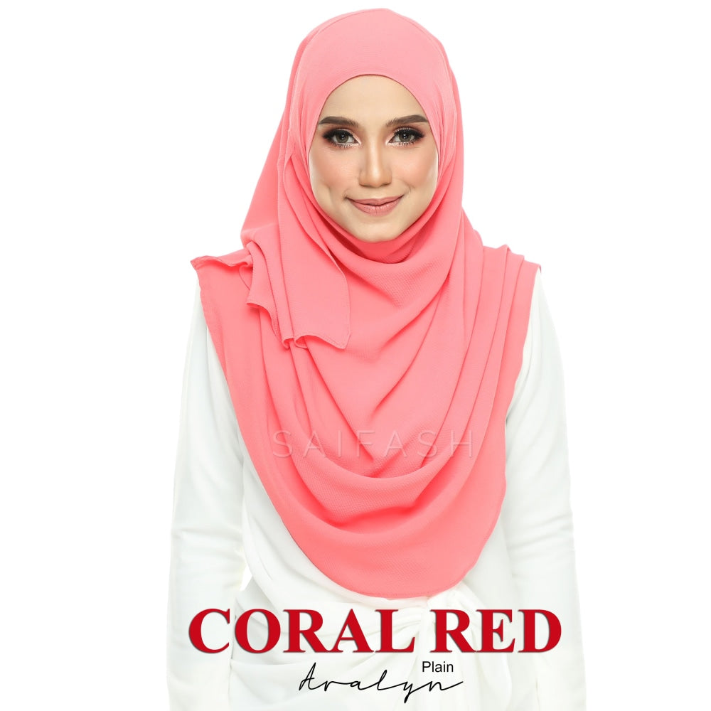 Aralyn Plain Instant | Coral Red - Full Instant