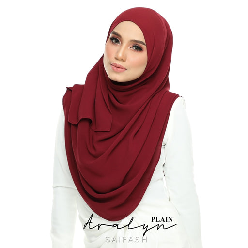 Aralyn Plain Instant | Dark Red - Full Instant