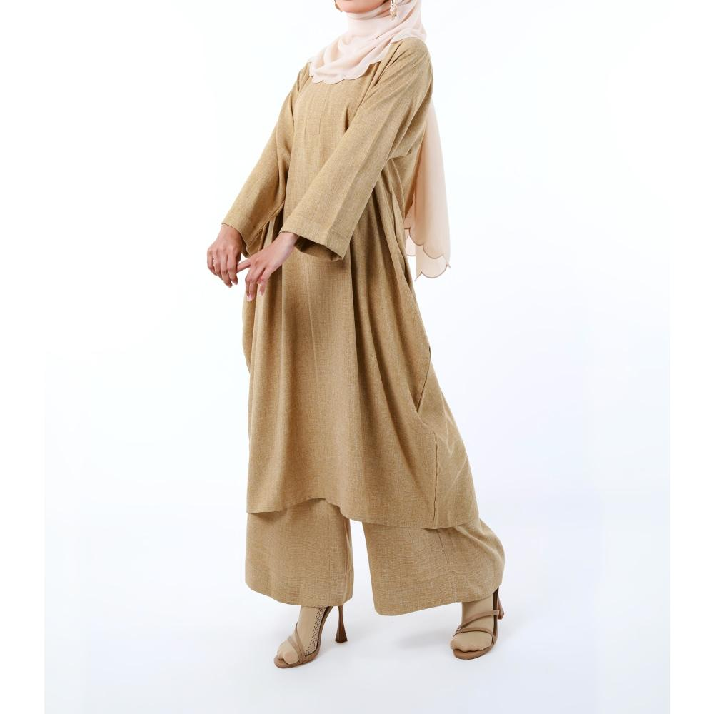 Bayu Long Tunic (Pants) | Sandy Brown - Pants