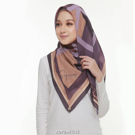 Carissa Grace Square Scarf 03 | Cadburry - HAYA