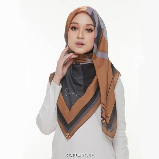 Carissa Grace Square Scarf 05 | Tan Sunset - HAYA