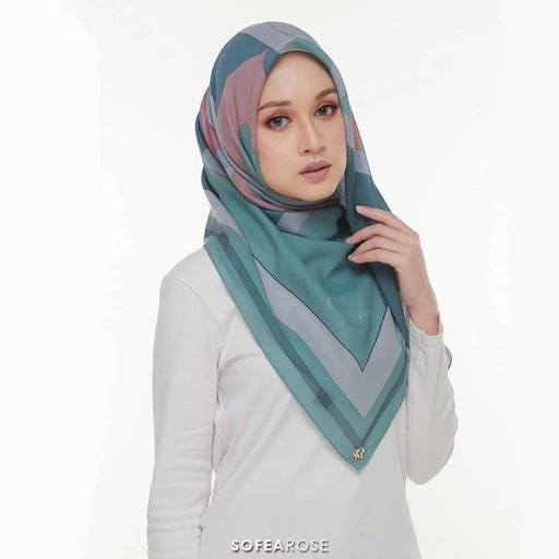Carissa Grace Square Scarf 06 | Teal Green - HAYA