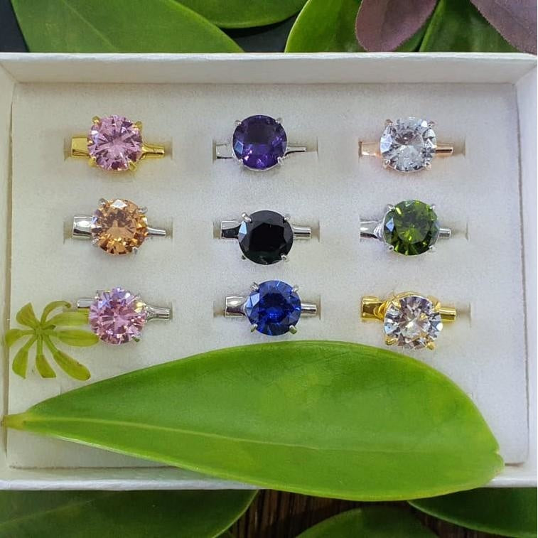 Cubic Zirconia Brooch - 9pc Mix Basic Set A - Brooch