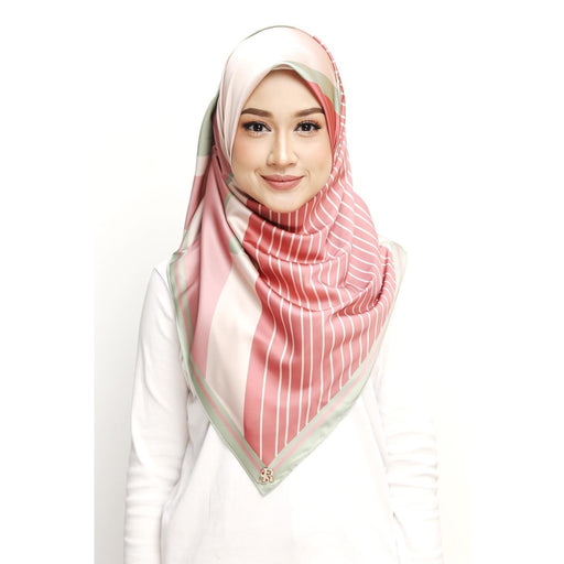 Diona Rhea Series Square Scarf | 01 Watermelon Wishes - Square Scarf