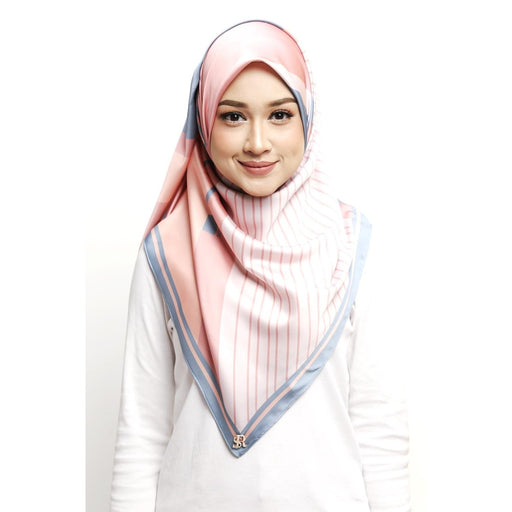 Diona Rhea Series Square Scarf | 07 Pinky Paradise - Square Scarf