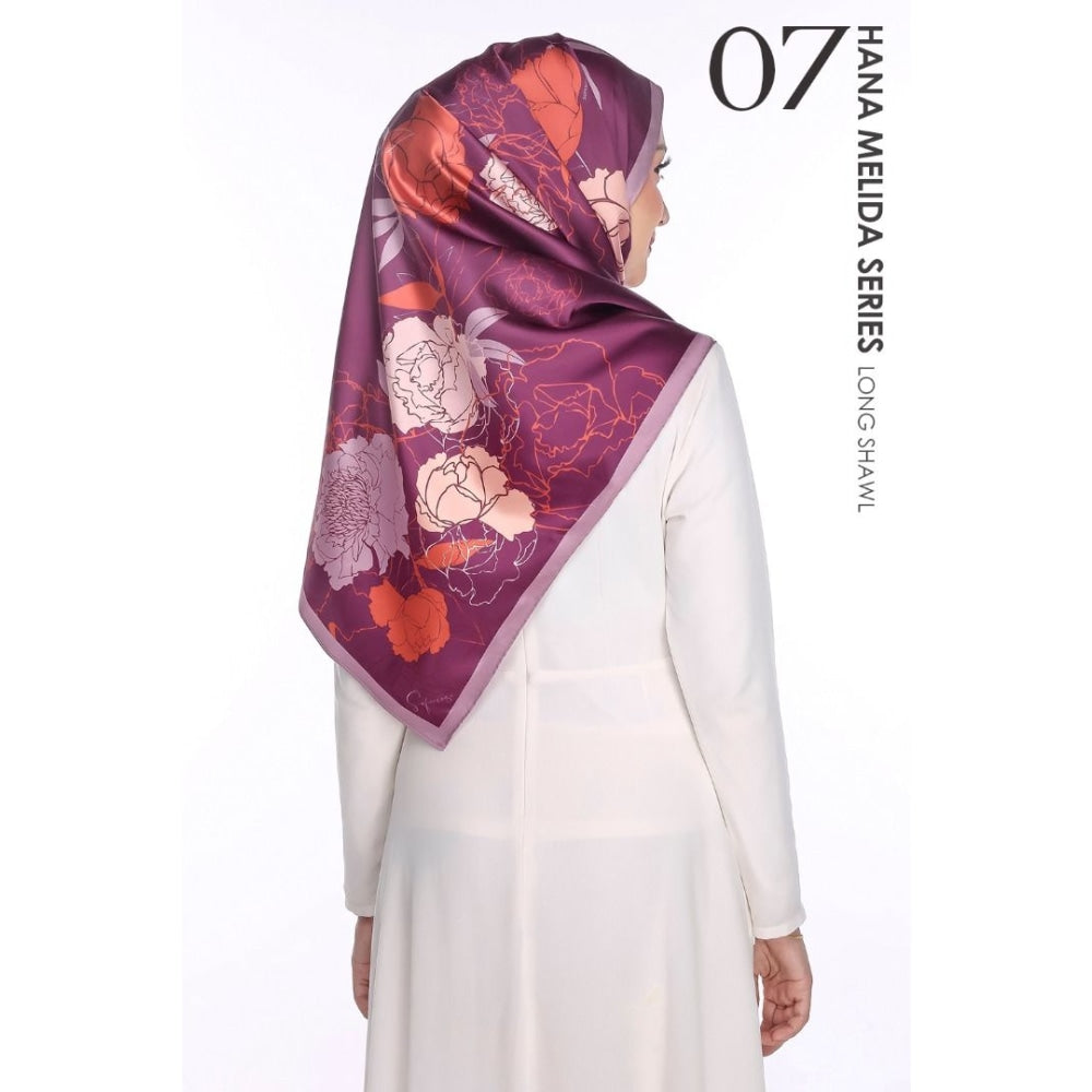 Hana Melida Shawl | 07 Widuri (Grape Purple) - shawl