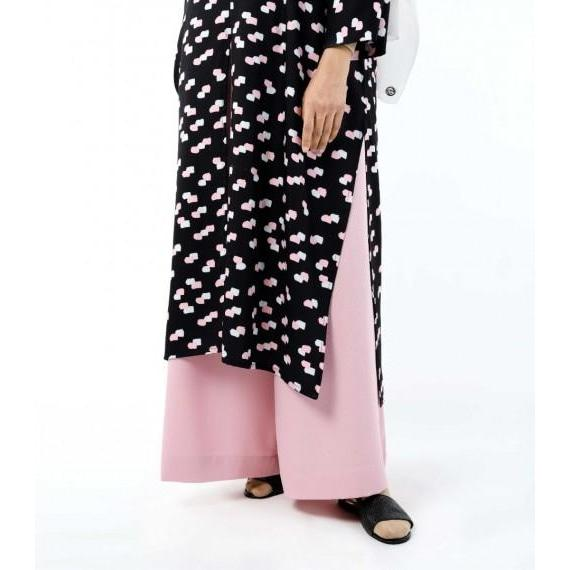 Jenna Printed Kaftan | Black Pink Brush - Top