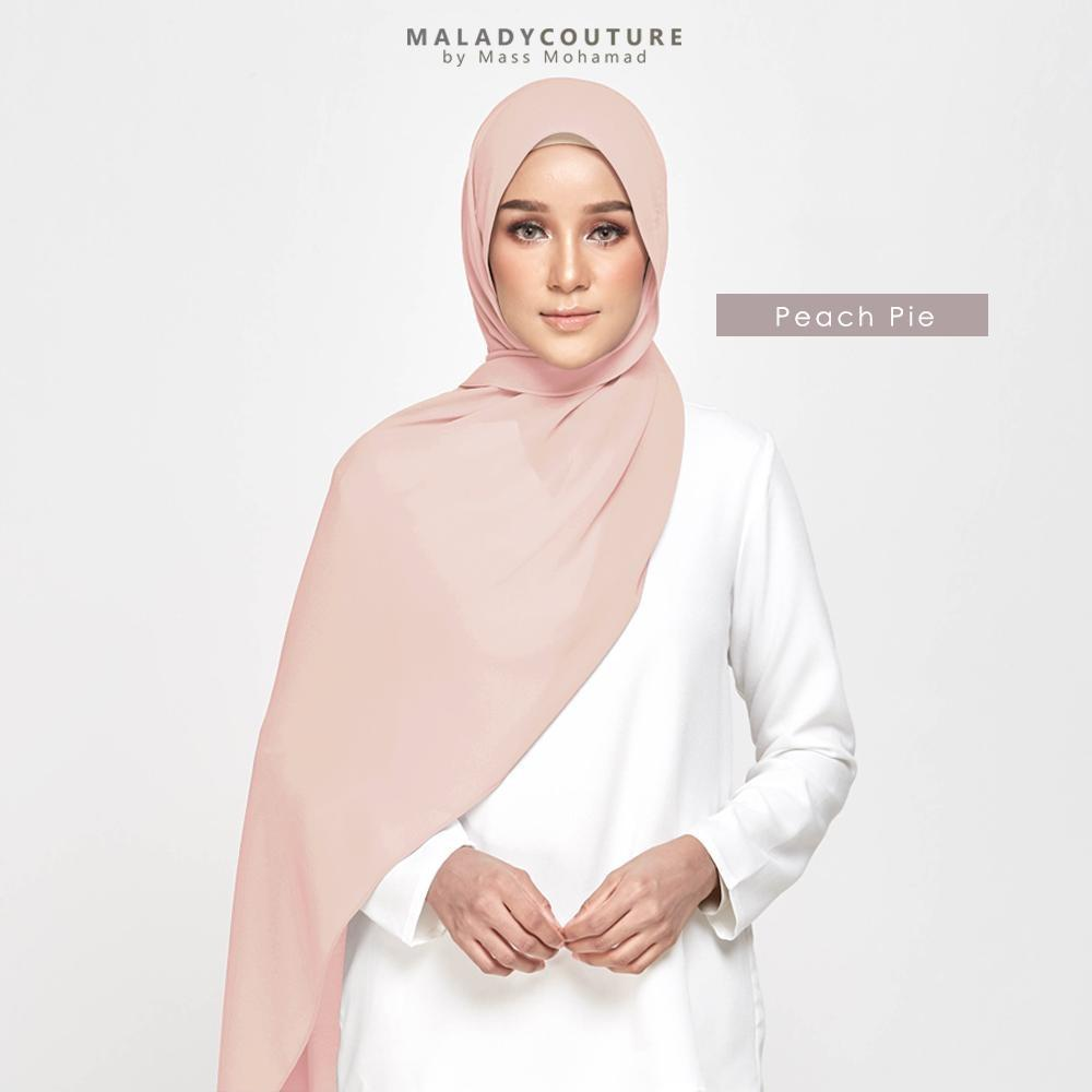 STYLE-LIT Tie Back Long Shawl Chiffon | Peach Pie - Instant Shawl